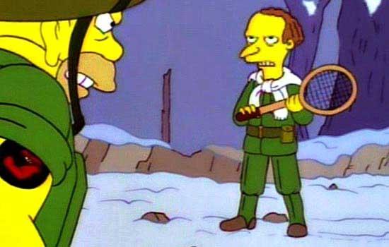 Бернс Симпсон на войне