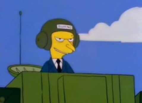 Мистер Бернс на войне