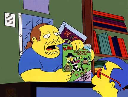 Джефри общается с Милхаусом в магазине комиксов
