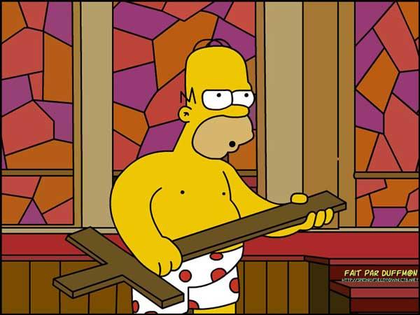 Гомер в церкви