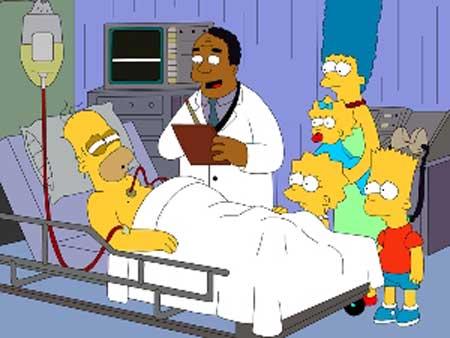 Гомер в больнице