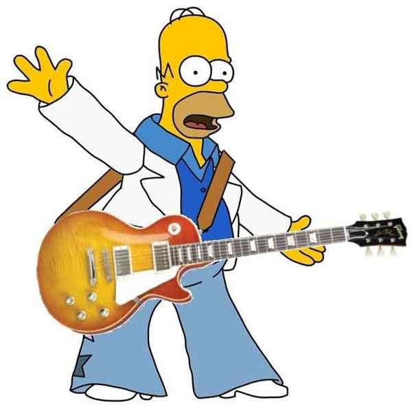 Гомер с гитарой