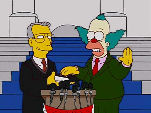 Клоун Красти в политике