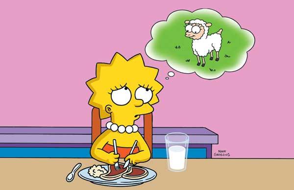 Лиза Симпсон вегетерианка