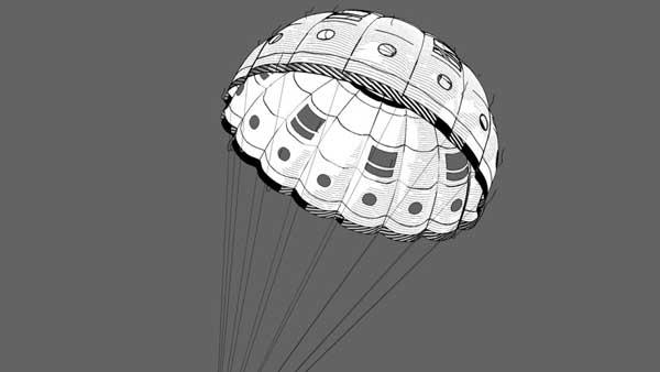 Мо прыгает с парашютом