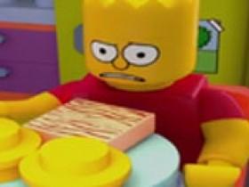 Симпсоны в стиле 3D ЛЕГО