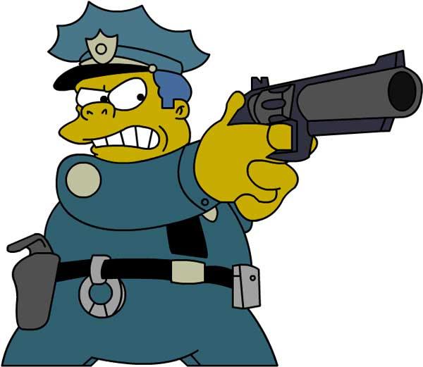 Шеф Виггам с оружием