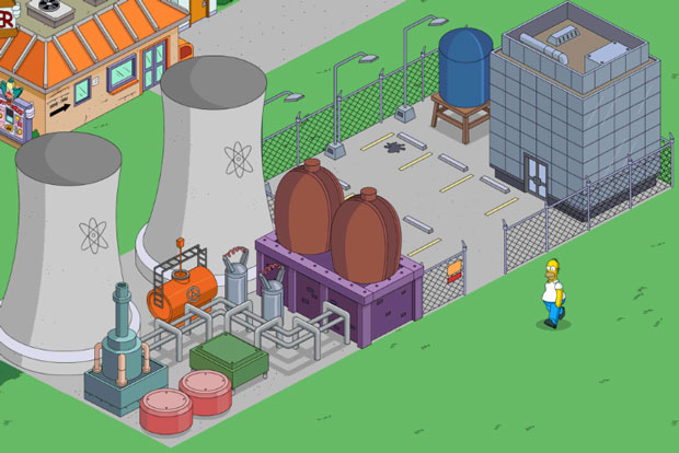 Гомер идет на работу на атомную станцию