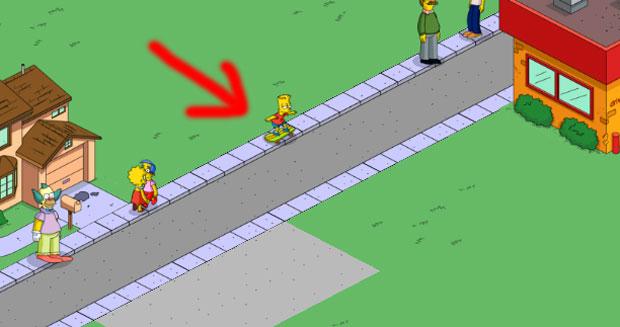 Барт катается на роликовой доске