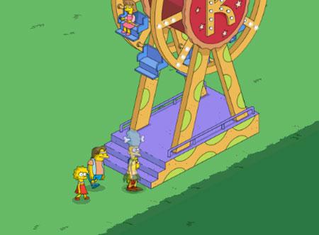 Посетители катаются на гигантском колесе Красти