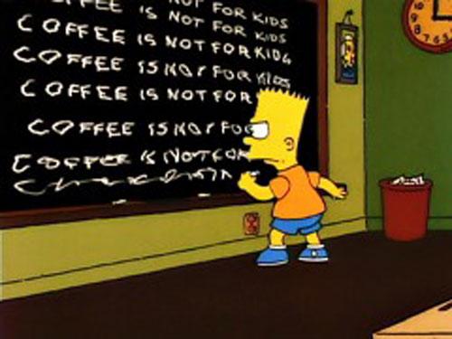 Симпсон на уроках в Спрингфилде