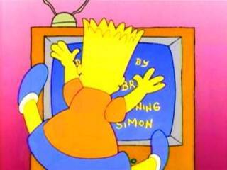 Барт у телевизора