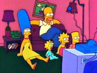 Гомер один на диване