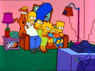Гомер сел на собаку