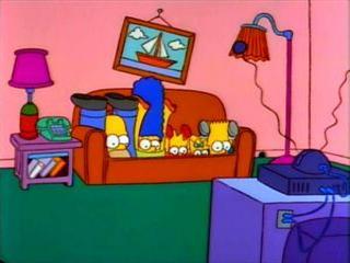 Симпсоны погрузились в диван