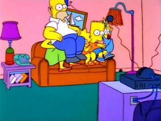 Симпсоны прыгают на диване