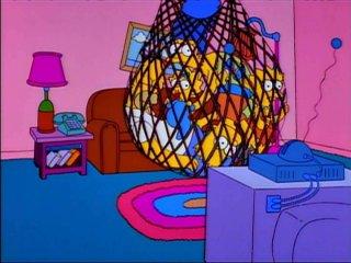 Симпсоны в сетке-ловушке