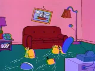 Дом Симпсонов затоплен
