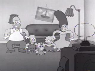 Симпсоны в перчатках Микки Мауса