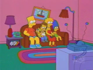 Взрослые Лиза и Барт Симпсоны