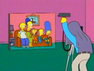 Симпсоны фотографируются