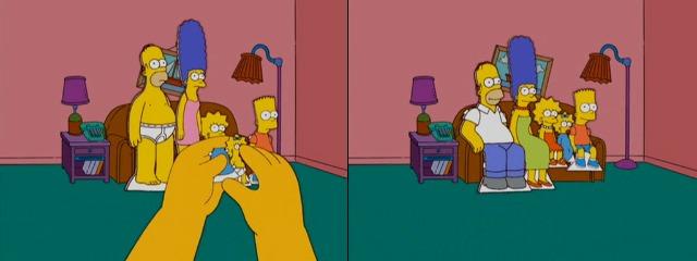 Фигурки Симпсонов из картона