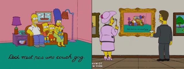 Картина Симпсонов в галерее