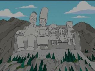 Каменная фигура из Симпсонов