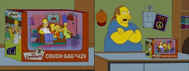 Симпсоны в магазине комиксов