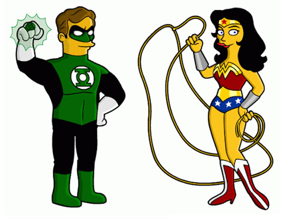 Зеленый Фонарь и Чудо-женщина