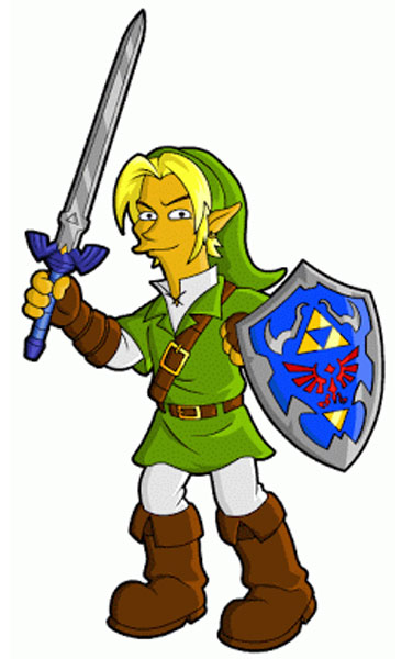 Линк из игры Zelda