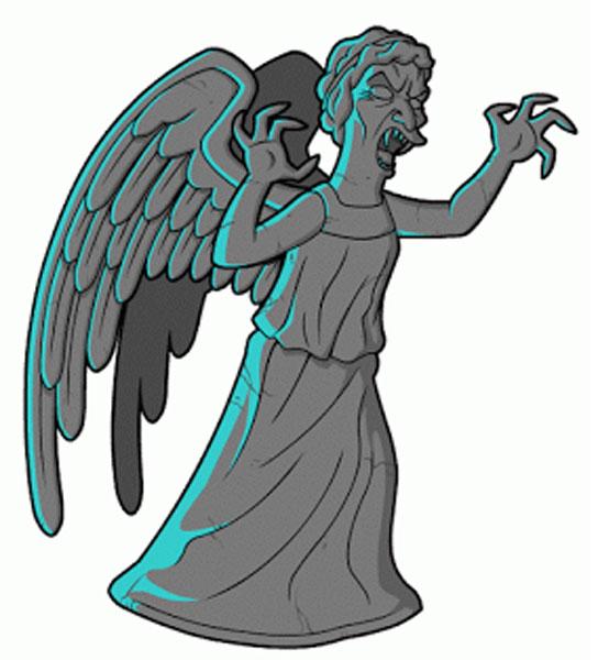 Страшный Плачущий Ангел