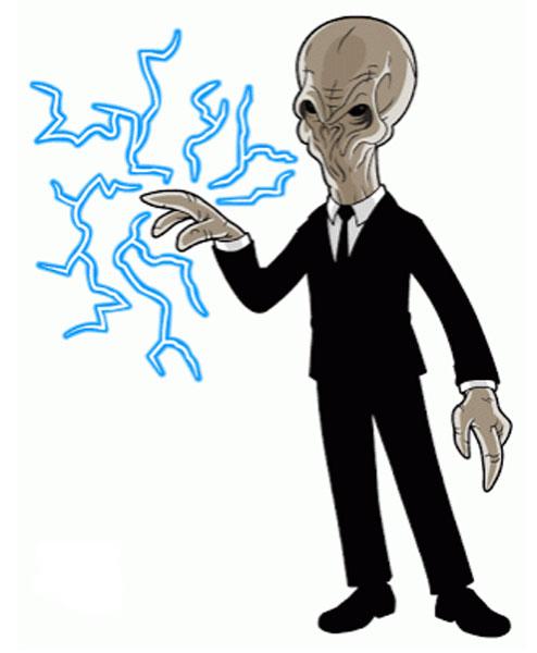Монстр из Доктора Кто - молчун