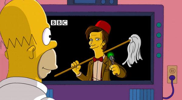 Гомер Симпсон смотрит Доктора Кто