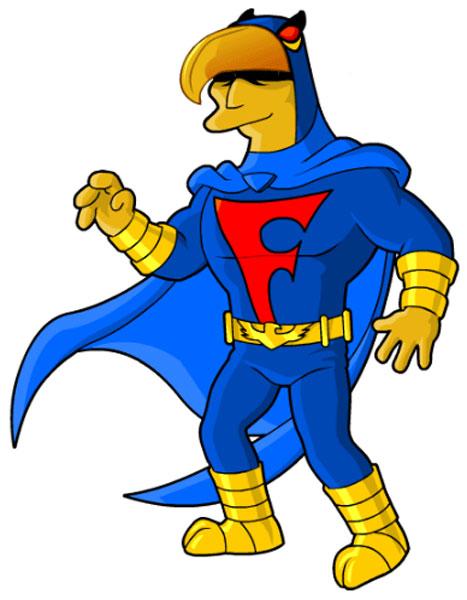Супергерой Синий Сокол