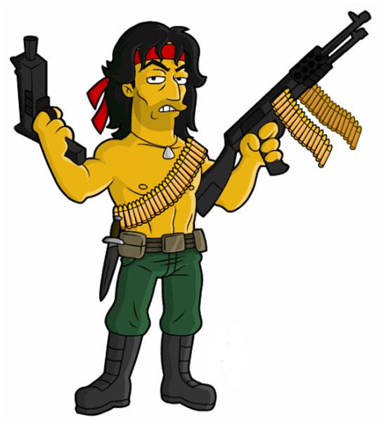Рэмбо с оружием