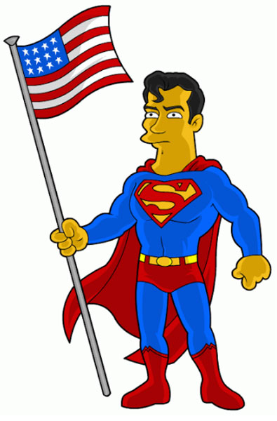 Супермен с флагом США