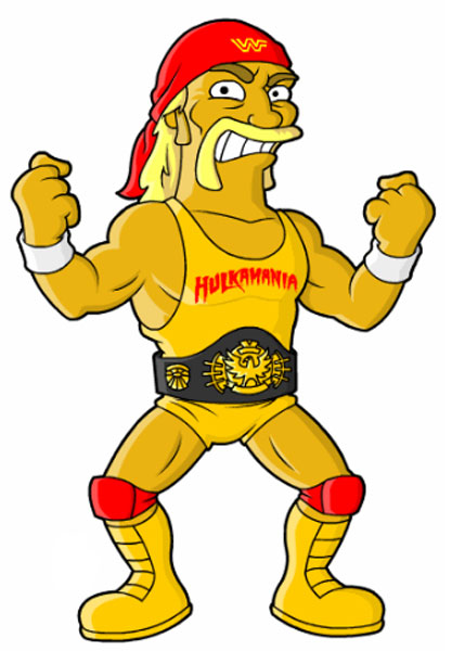 Халк Хоган с чемпионским поясом