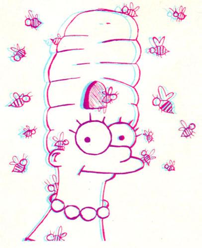 Мардж Симпсон и улей в волосах