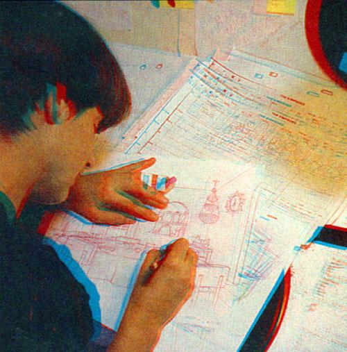 Дебби Сильвер рисует фон для Симпсонов