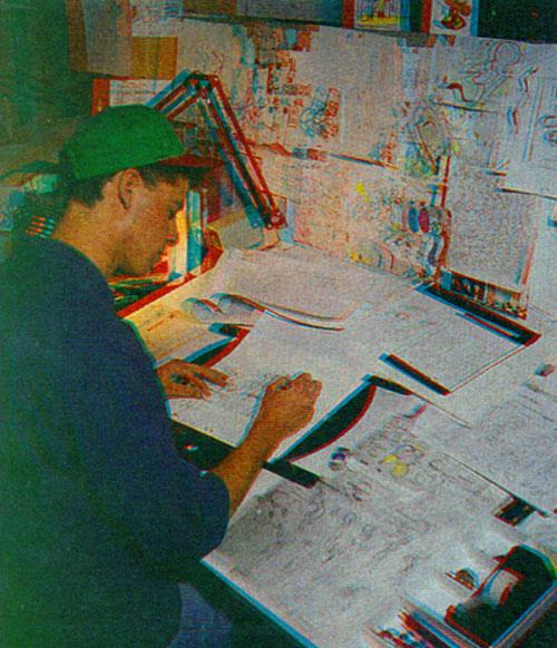 Марк Эрвин рисует Симпсонов