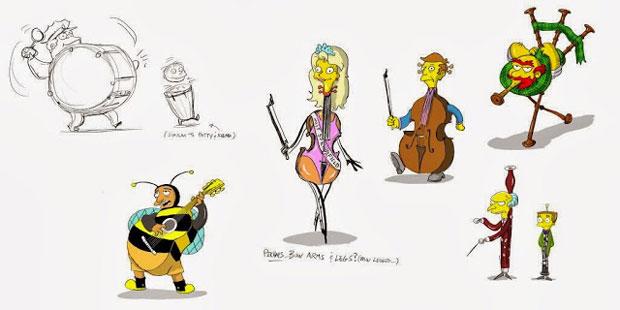 Жители Спрингфилда - музыкальные инструменты