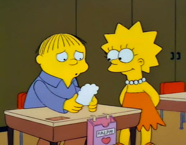 Лиза дарит Ральфу валентинку