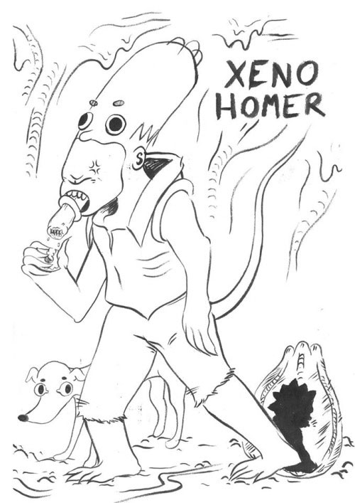 Xeno Homer - Гомер пародия на фильм