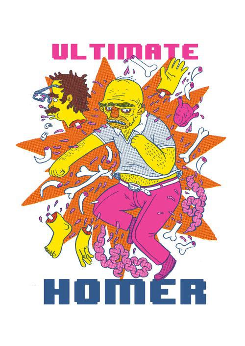 Гомер Симпсон - пародия на Mortal Combat Ultimate