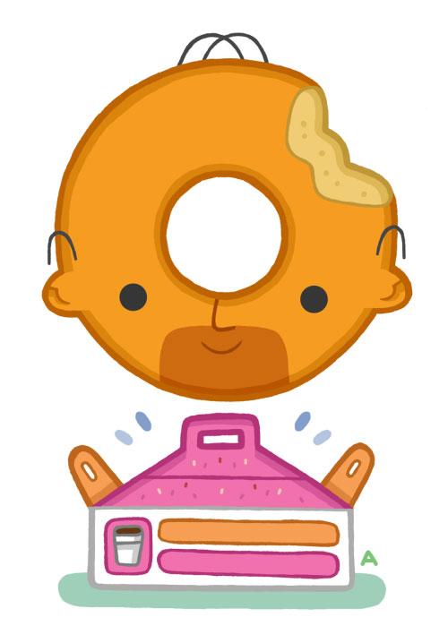 Огромный пончик - любимое лакомство Гомера