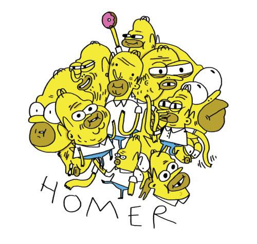 Несколько Гомеров - карикатура
