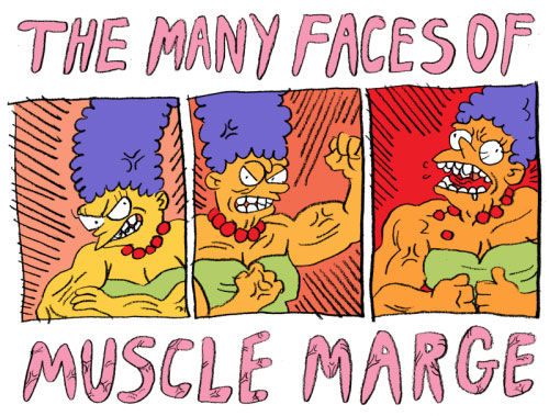 Мардж Симпсон с мускулами