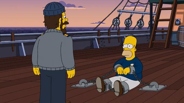 Гомер прикован цепями