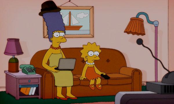Мардж готовится к игре в фэнтези футбол